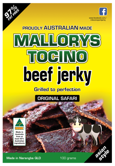 Tasty Australian beef jerky grilled to perfection