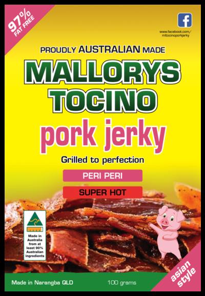 Super hot grilled peri peri pork jerky