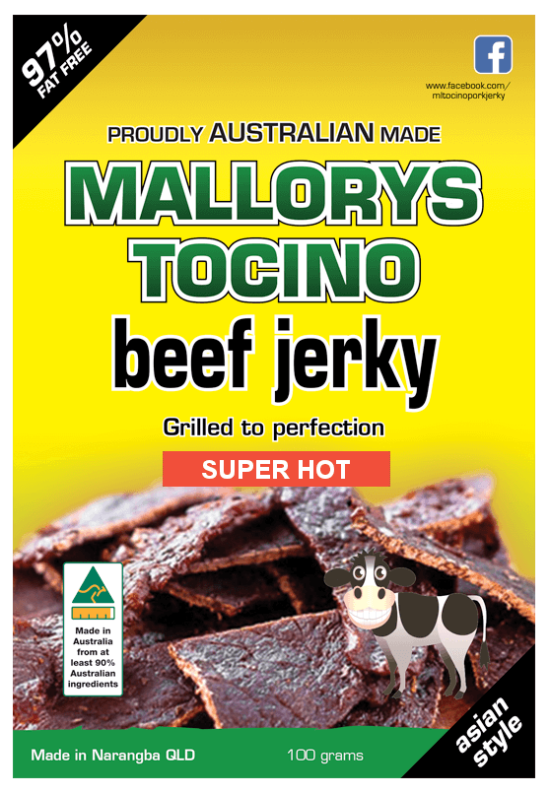 Beef Jerky Super Hot 100g