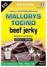 Bulk Pack Garlic Ginger Beef Jerky 300g, 500g & 1kg