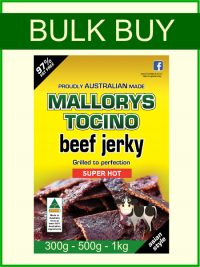 Bulk Size Beef Jerky Super Hot 300g, 500g & 1kg Packs