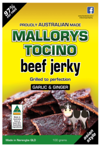 Garlic Ginger Beef Jerky 100g