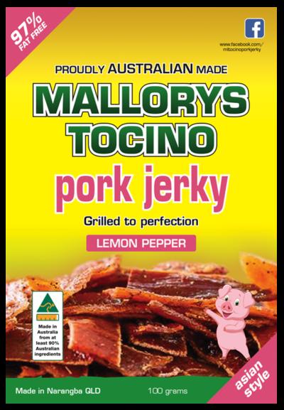 Lemon Pepper Pork Jerky 100g