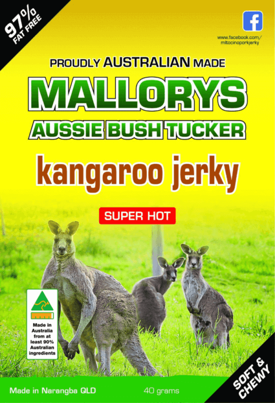 Super Hot Kangaroo Jerky 100 Grams